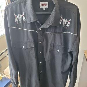 Toro western wear medicine skull shirt